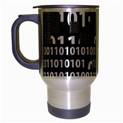 Beauty of Binary Travel Mug (Silver Gray)