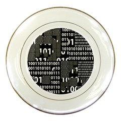 Beauty of Binary Porcelain Display Plate