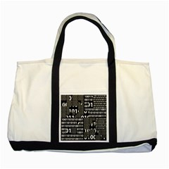 Beauty of Binary Two Toned Tote Bag