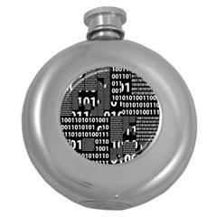 Beauty of Binary Hip Flask (Round)