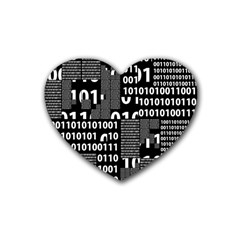 Beauty of Binary Drink Coasters 4 Pack (Heart)