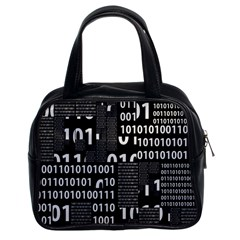 Beauty Of Binary Classic Handbag (two Sides)