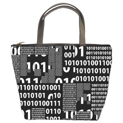 Beauty of Binary Bucket Handbag