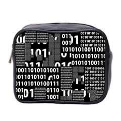 Beauty Of Binary Mini Travel Toiletry Bag (two Sides)
