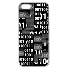 Beauty of Binary Apple Seamless iPhone 5 Case (Clear)