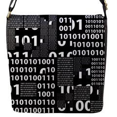 Beauty of Binary Flap Closure Messenger Bag (Small)
