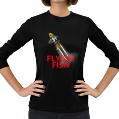 Flying Fish Women s Long Sleeve T Shirt (dark Colored)