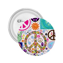Peace Collage 2 25  Button