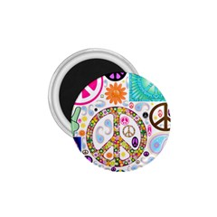 Peace Collage 1.75  Button Magnet
