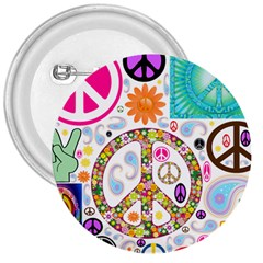 Peace Collage 3  Button
