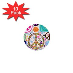 Peace Collage 1  Mini Button (10 pack)