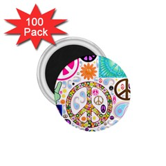 Peace Collage 1 75  Button Magnet (100 Pack)