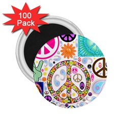 Peace Collage 2.25  Button Magnet (100 pack)