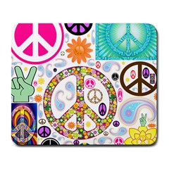 Peace Collage Large Mouse Pad (Rectangle)