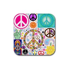 Peace Collage Drink Coasters 4 Pack (Square)
