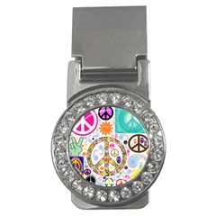 Peace Collage Money Clip (cz)