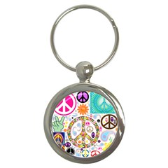 Peace Collage Key Chain (Round)