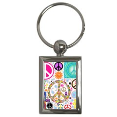 Peace Collage Key Chain (rectangle)