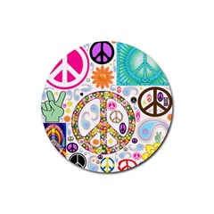 Peace Collage Drink Coasters 4 Pack (Round)