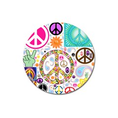 Peace Collage Magnet 3  (Round)