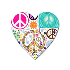 Peace Collage Magnet (heart)