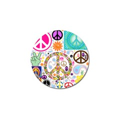 Peace Collage Golf Ball Marker