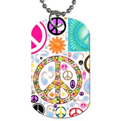 Peace Collage Dog Tag (two Sided)
