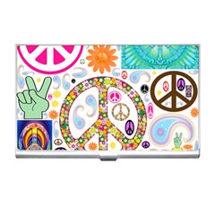 Peace Collage Business Card Holder