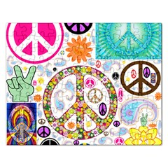 Peace Collage Jigsaw Puzzle (Rectangle)