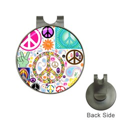 Peace Collage Hat Clip with Golf Ball Marker