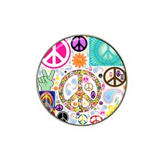 Peace Collage Golf Ball Marker 4 Pack (for Hat Clip)