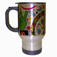 Peace Collage Travel Mug (silver Gray)