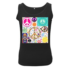 Peace Collage Women s Tank Top (Black)