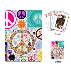 Peace Collage Playing Cards Single Design