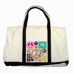 Peace Collage Two Toned Tote Bag
