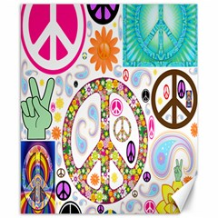 Peace Collage Canvas 8  x 10  (Unframed)