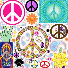 Peace Collage Canvas 16  x 16  (Unframed)