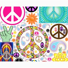 Peace Collage Canvas 16  x 20  (Unframed)