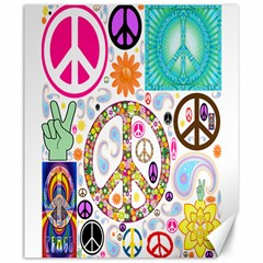 Peace Collage Canvas 20  x 24  (Unframed)