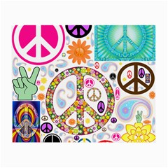 Peace Collage Glasses Cloth (Small, Two Sided)