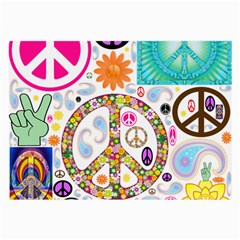 Peace Collage Glasses Cloth (Large, Two Sided)