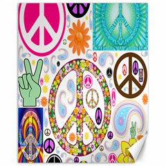 Peace Collage Canvas 11  X 14  (unframed)