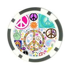 Peace Collage Poker Chip