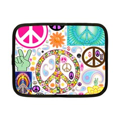 Peace Collage Netbook Sleeve (small)