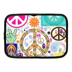 Peace Collage Netbook Sleeve (medium)