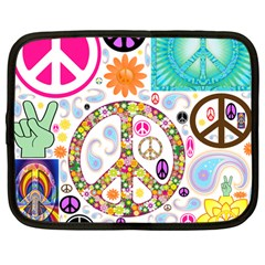 Peace Collage Netbook Sleeve (Large)