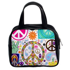 Peace Collage Classic Handbag (Two Sides)