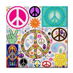 Peace Collage Face Towel
