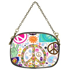Peace Collage Chain Purse (One Side)
