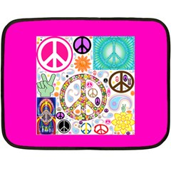 Peace Collage Mini Fleece Blanket (two Sided)